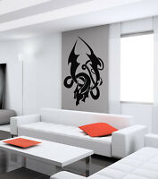 WALL VINYL STICKER  DECALS ART MURAL TRIBAL TATTOO DRAGON B201