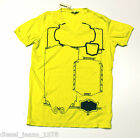 BNWT DIESEL T-STEEL T-SHIRT SZ S V-NECK 100% AUTHENTIC YELLOW