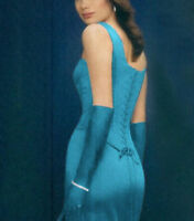 Blue Teal Turquoise Aqua Corset Evening Dress Size 14 Cocktail Party Formal