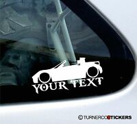 Custom Text, Low Smart Roadster sports car silhouette outline Sticker / Decal
