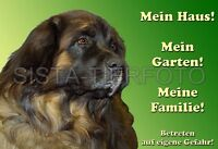 METALL-WARNSCHILD A4: LEONBERGER 5301