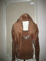 TWISTED HEART VELOUR HOODIE AND TANK TOP SZ M BNWT