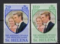 St.Helena 1973 Royal Wedding MNH Set