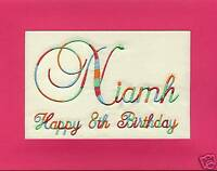 Embroidered Personalised Birthday Greeting Cards
