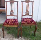 Pair of Mahogany Sidechairs or Dinette Chairs  (SC17)