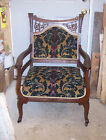 Late 1800's Carved Mahogany Armchair/Parlor Chair (AC12)