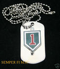 1ST INFANTRY DIVISION DOG TAG US ARMY NECKLACE 1ST ID PIN UP GIFT WOW