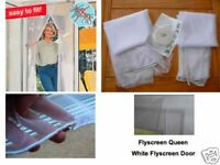 Fly Screen Insect Screen Lightweight Door White
