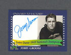 Jerry Groom signed Notre Dame 1949 Champions card