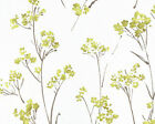 """Linen Cotton Blended Fabric for Curtain, Drapery Retro Vintage Floral White 54""""w"""