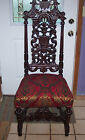 Tall Ornately Carved Mahogany Parlor Chair/Sidechair  (SC73)