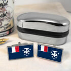 French Southern and Antarctic Flag Mens Gift Cufflinks