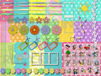 DIGITAL SCRAPBOOKING KIT~DISNEY'S SUMMER TIME FUN