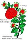 ROSE SPRAY STAINED GLASS EFFECT WINDOW CLING DECORATION SUN CATCHER STATIC FILM