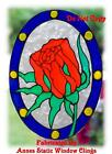 VICTORIAN ROSE STAINED GLASS EFFECT WINDOW CLING DECAL SUN CATCHER DECORATION