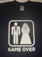 FUNNY STAG NIGHT  GAME OVER T-SHIRT