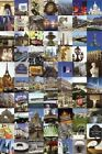 TRAVEL ~ PARIS FAMOUS SIGHTS COLLAGE POSTER 24x36 France