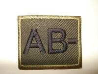 Olive Green Velcro Blood Group Patch, Badge, Army, AB-