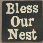 BLESS OUR NEST Sign Plaque Home Decor HP WOOD Spring U-Pick Color Wood Plaque HP