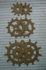 6 Unfinished chipboard Gear diecuts 2 @ 3 sizes