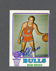 Bob Weiss signed Chicago Bulls 1973-74 Topps BB card