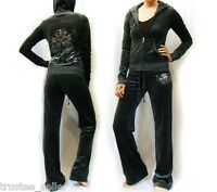 NWT Juicy Couture Luxe For Life Velour Hoodie Pant Tracksuit Wholeset