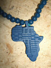 Africa Wood Necklace African continent pendant jnwa231