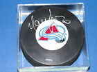 COLORADO AVALANCHE SIGNED HOCKEY PUCK BY MAREK SVATOS COA