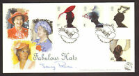 #GB A G BRADBURY FDC 2001 FASHION HATS SIGNED BY JENNY PITMAN LTD EDITION