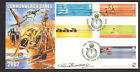 #GB A G BRADBURY FDC 2002 COMMONWEALTH GAMES SIGNED BY SUE BARKER LTD EDITION