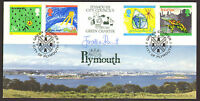 #GB A G BRADBURY 1992 FDC CHILDRENS PAINTINGS SIGNED BY JONATHAN PORRITT LTD ED