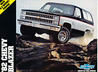 1982 Chevrolet Blazer Original Car Dealer Sales Brochure - Chevy
