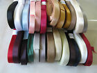10mm SATIN RIBBON 5 or 10m various colours (mostly double faced)