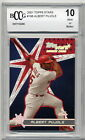 2001 Topps Stars Albert Pujols Rookie RC BGS BCCG 10  Angels