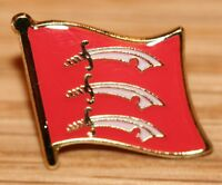 Essex England County Flag Enamel Pin Badge UK Great Britain