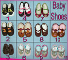 BABY SHOES Soft Sole - SZ 0 3 6 9 12 15 20 Mths - CHOOSE Boy or Girl Cute NEW