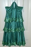 New Jenny Packham Green 100% Silk Designer Dress
