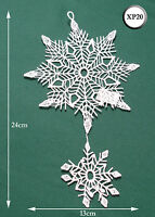 New Chemical Lace Schiffli Christmas Hanging Decoration Snowflake XP20