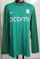 ASTON VILLA  PLAYERS GREEN KEEPERS JERSEY BY NIKE ADULTS SIZE XL BRAND NEW