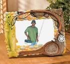 PICTURE FRAME, Fishing Themed, Holds a 4X6 photo, Easel Back