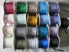 5mm DOUBLE FACED SATIN RIBBON 10m various colours
