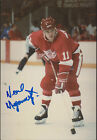 Neal Megannety Red Wings Signed Auto 4x6