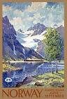 TT43 Vintage Norway Norwegian Travel Tourism Poster Re-Print A4