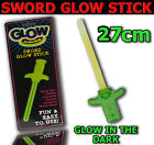 NEW NEON GLOW GLO IN THE DARK SWORD STICKS HEN NIGHT KIDS ADULTS PARTY BAGS TOY