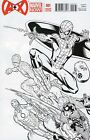 A+X #1 A plus X Ed McGuinness Variant Sketch Cover 1:50 / 2012 Marvel Comics