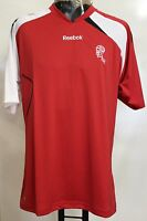 BOLTON WANDERERS RED PRESENTATION TEE SHIRT BY REEBOK SIZE LARGE BRAND NEW