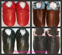 moxie soft soled leather classic baby shoes 12-18 mos  chaussons cuir souple