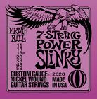 Ernie Ball 2620 7 String Power Slinky Electric Guitar Strings 11-58 Free US Ship