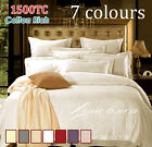 HOTEL 1500TC Cotton Rich Quilt/Doona Cover Set in Ivory Queen Size