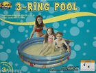 Surf Club Inflatable 3 Ring-Pool Ages 3+ 52 in D x 13 in H NIB